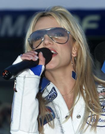 Britney Spears at The Pepsi 400 - 7-7-2001