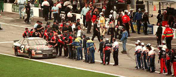 Pit Road After Dale won the 1998 Daytona 500