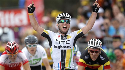 Mark Cavendish wins stage 5 - 2011 tour