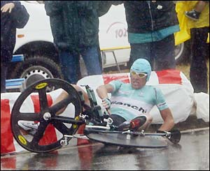Tour de France Image - Crash