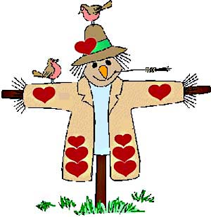 Scarecrow w/ Hearts