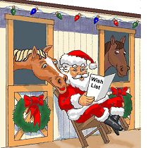 Santa in a stable